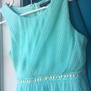 Sparkle Teal Dress (Sequin Hearts) Size 16